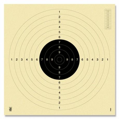 Püstoli märkleht 25/50m nummerdatud